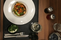 Plat : Homard et jardinière de légumes